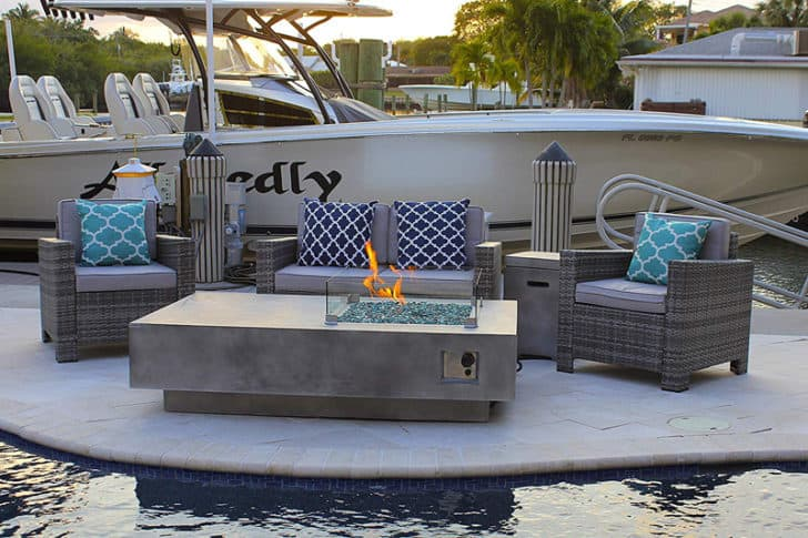 10 Concrete Fire Pit Tables That You Can Buy Right Now